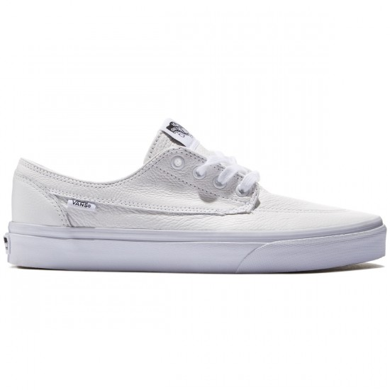 Vans Brigata Premium Leather Shoes - True White - 8.0