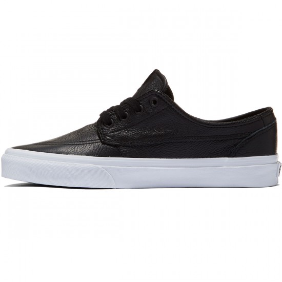 Vans Brigata Premium Leather Shoes - Black/True White - 8.0