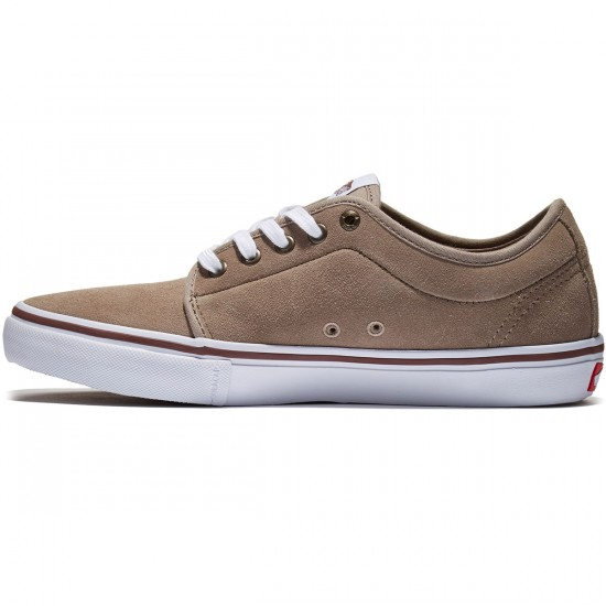 Vans Chukka Low Pro Shoes - Taupe/White - 8.0