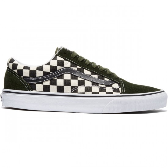 Vans Old Skool Shoes - Checkerboard/Black/Rosin - 8.0