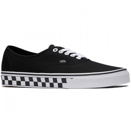 Vans Original Authentic Shoes - Checkertape Black/White - 8.0
