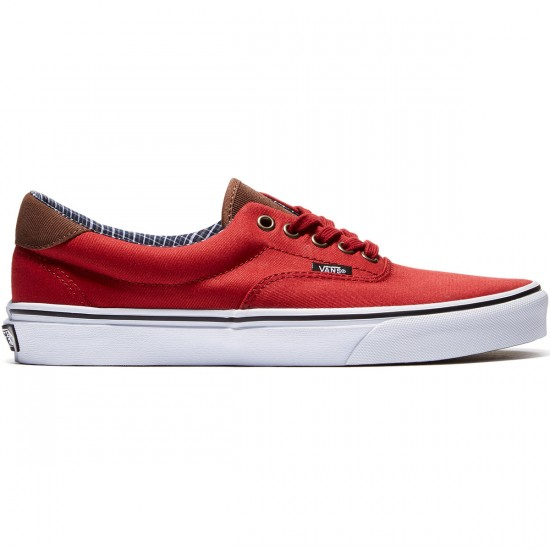 Vans Era 59 Shoes - Red Dahila/True White - 8.0