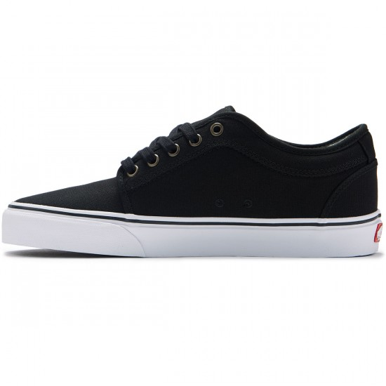 Vans Chukka Low Shoes - Canvas Black/White - 8.0