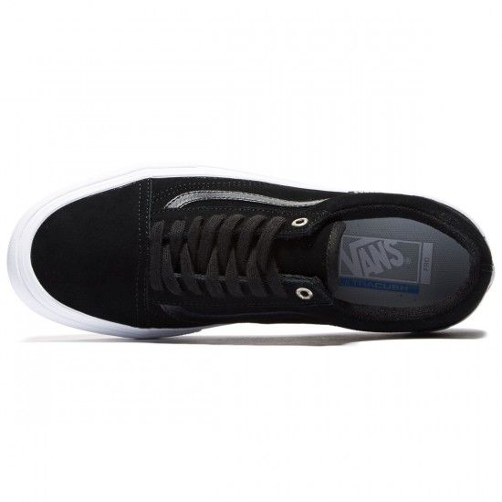 Vans Old Skool Pro Shoes - Black/Black/White - 8.0
