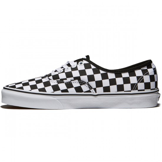 Vans Authentic Checkerboard Shoes - Black/True White - 10.5