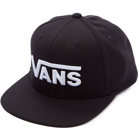 Vans Drop V Snapback Hat - Black-White