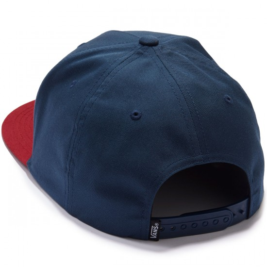Vans Side Stripe Snapback Hat - Dress Blues/Rhubarb