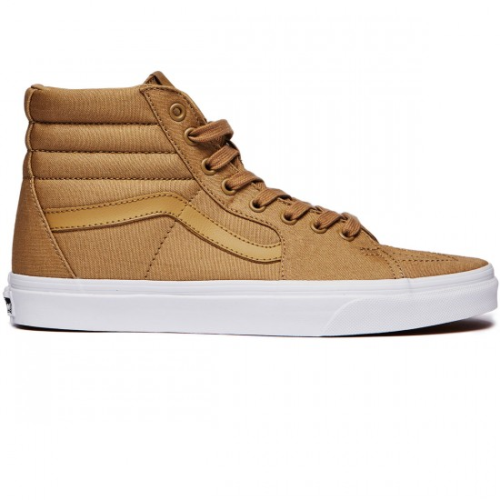 Vans Sk8-Hi Shoes - Khaki/True White - 6.0