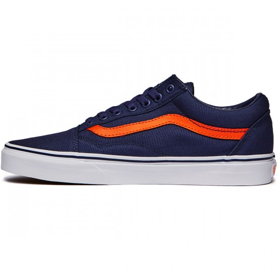 Vans Old Skool Shoes - Crown Blue/Mandarin Orange - 6.0