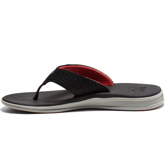 Reef Rover Sandals - Grey/Black/Red - 8.0