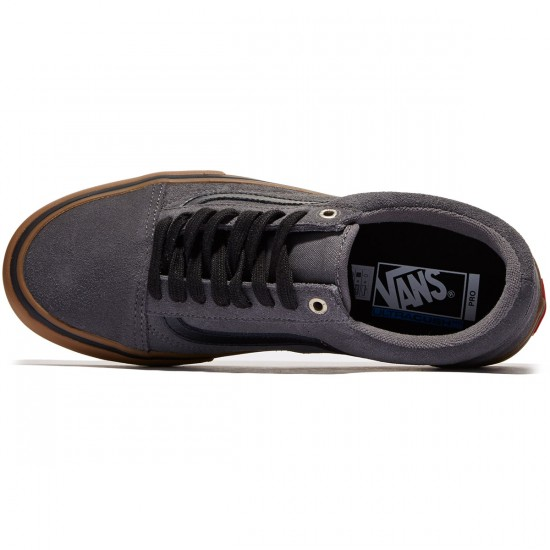 Vans Old Skool Pro Shoes - Grey/Black/Gum - 7.0