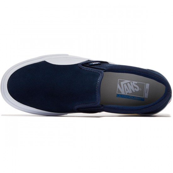 Vans Slip On Pro Shoes - Dress Blues/White - 8.0