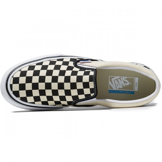 Vans Slip-On Pro Shoes - Checkerboard Black/White - 8.0