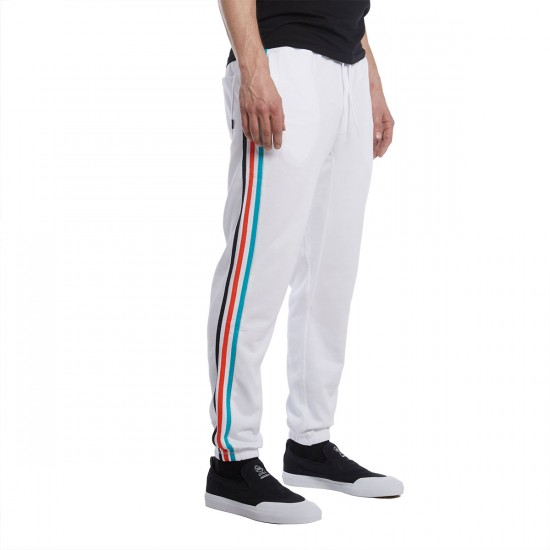 Adidas BlackBird Sweatpant - White/Energy Blue/Energy Red - LG