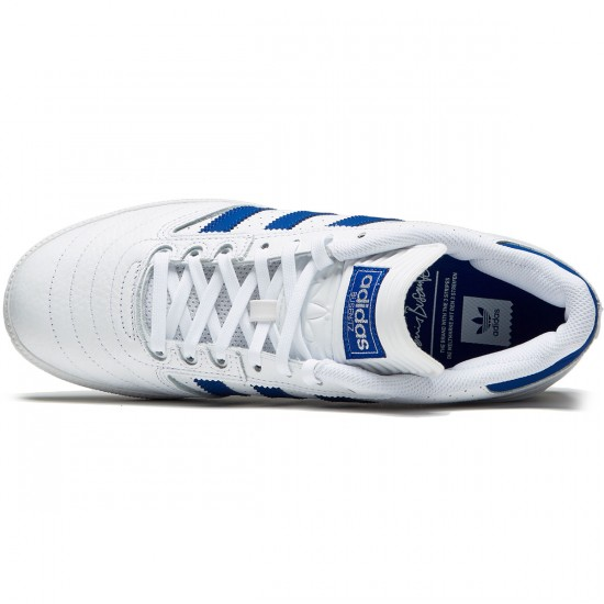 Adidas Busenitz Shoes - White/Collegiate Royal/White - 6.5