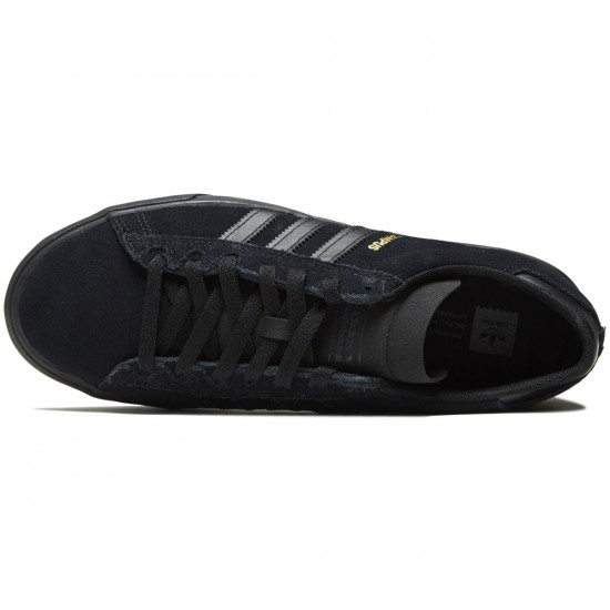 Adidas Campus Vulc II Shoes - Core Black/Core Black/Core Black - 8.0