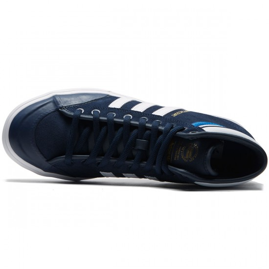 Adidas Matchcourt High RX2 Shoes - Collegiate Navy/White/Bluebird - 8.0
