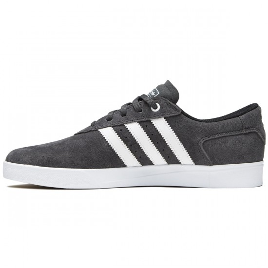 Adidas Silas Vulc Shoes - Solid Grey/White/Gold - 8.0
