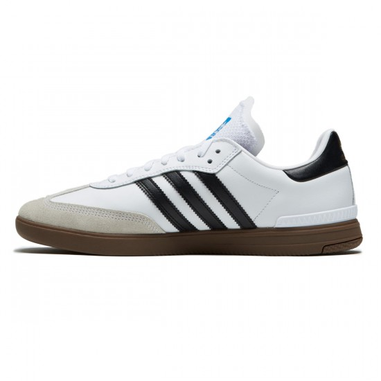 Adidas Samba ADV Shoes - White/Core Black/Gum - 6.0