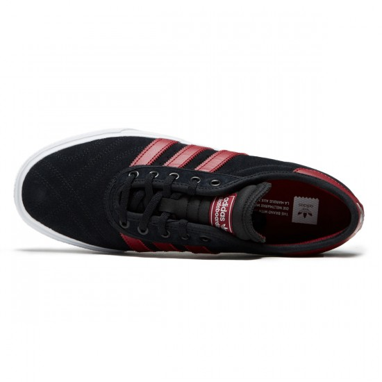 Adidas Adi-Ease Premiere Shoes - Core Black/Collegiate Burgundy/White - 7.0