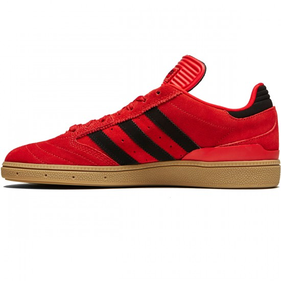 Adidas Busenitz Shoes - Scarlet/Core Black/Gum - 8.0