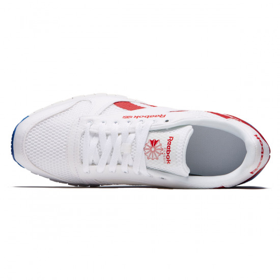 Reebok Classic Leather MVS Shoes - White/Excellent Red/Team Dark Royal - 10.0
