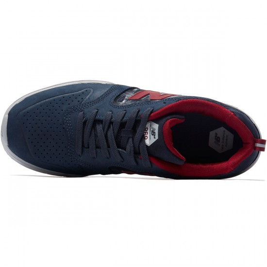 New Balance Numeric 868 Shoes - Navy/Burgundy - 8.0