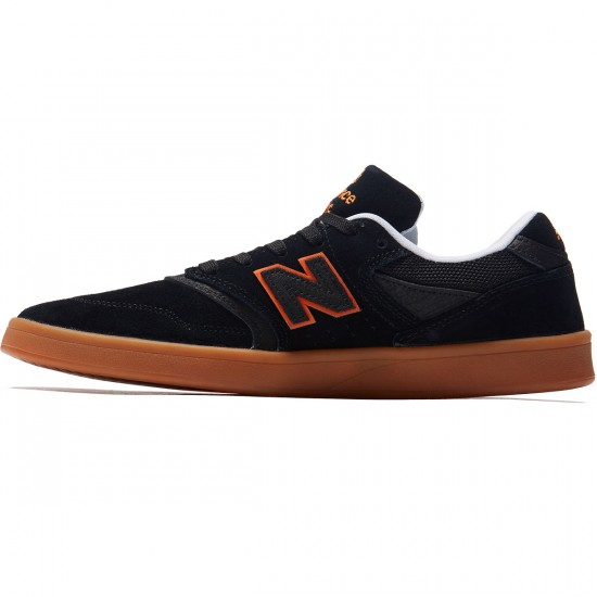 New Balance 598 Shoes - Black/Orange/Gum - 8.0