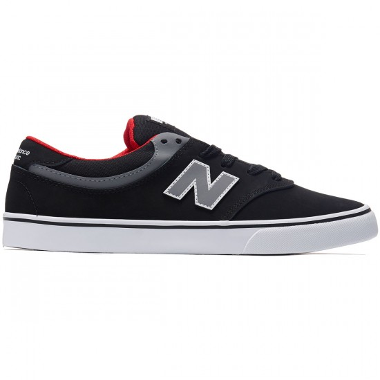 New Balance Quincy 254 Shoes - Black/Grey/Red - 8.0