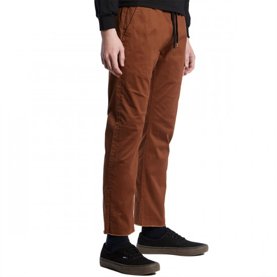 Imperial Motion Chapter Cropped Chino Pants - Chestnut