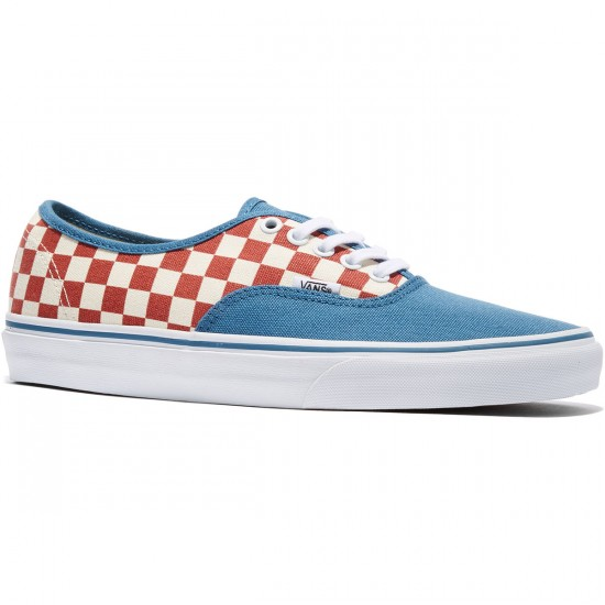 Vans Original Authentic Shoes - Checkerboard/Blue Ashes - 8.0
