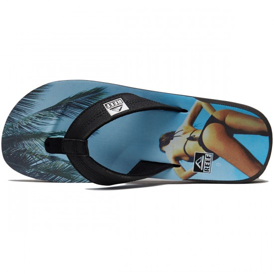 Reef HT Prints Sandals - RG Charcoal/Blue Sky - 8.0