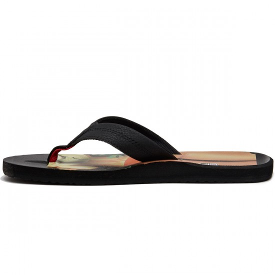 Reef HT Prints Sandals - RG Black/Red - 8.0