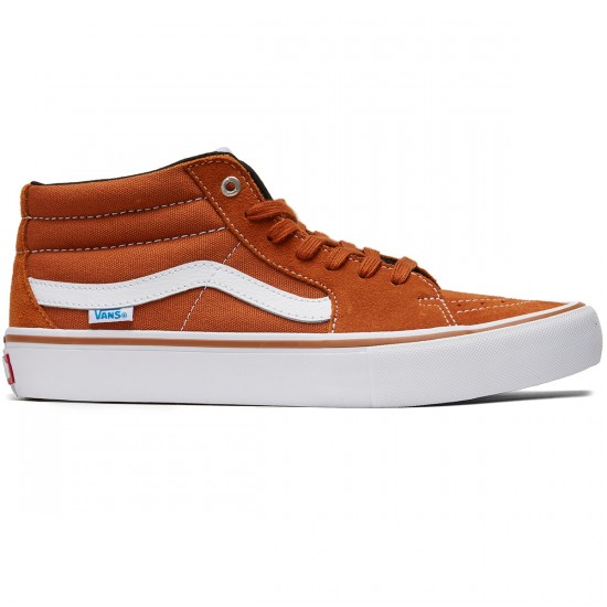 Vans Sk8-Mid Pro Shoes - Glazed Ginger - 8.0