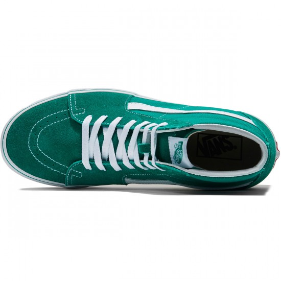 Vans Sk8-Hi Shoes - Ultramarine Green/True White - 8.0