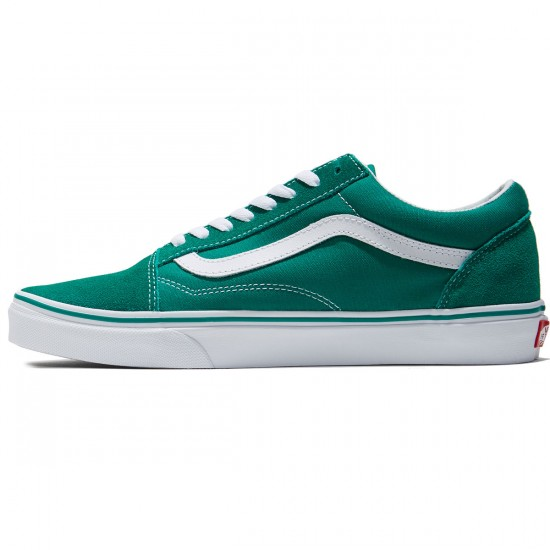 Vans Old Skool Shoes - Ultramarine Green/True White - 8.0