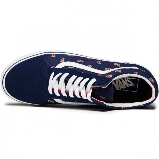 Vans Old Skool MLB Shoes - Boston/Red Sox/Navy - 8.0