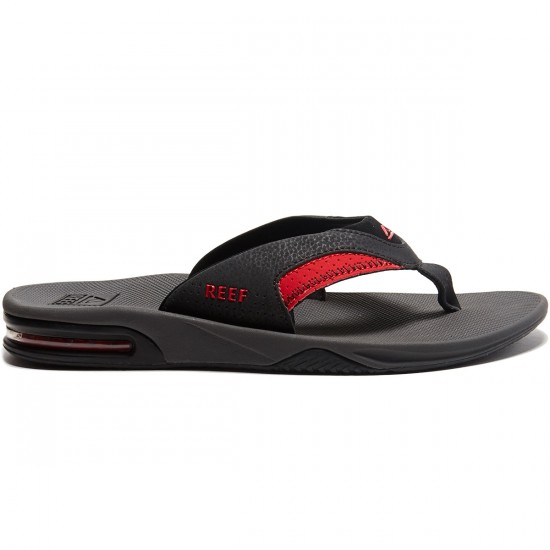 Reef Fanning Sandals - Grey/Black/Red