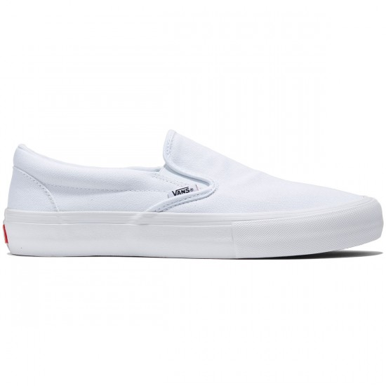 Vans Slip-On Pro Shoes - White/White - 8.0
