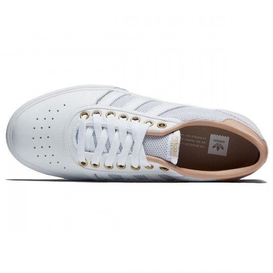 Adidas Lucas Premiere Shoes - White/Ash Pearl/Gold Metallic