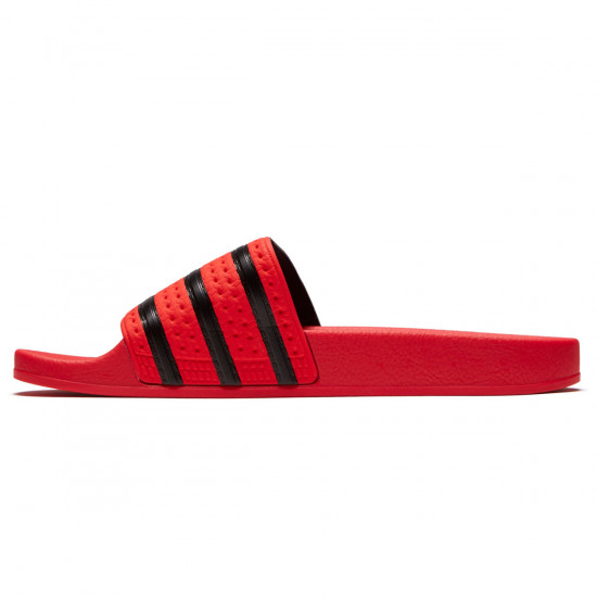 Adidas Adilette Slides - Real Coral/Core Black/Real Coral - 9.0