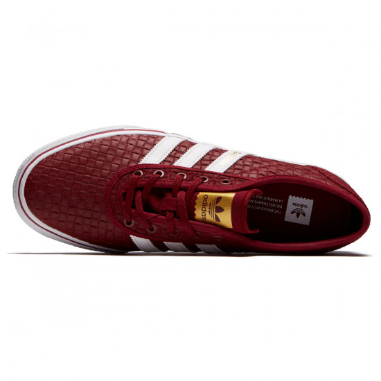 Adidas Adi-Ease Shoes - Collegiate Burgundy/White/Gold Metallic - 6.5