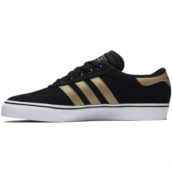 Adidas Adi-Ease Premiere Shoes - Black/Raw Gold/White - 6.0