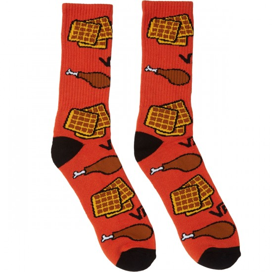 Vans Chicken N Waffles Crew Socks - Chicken N Waffles