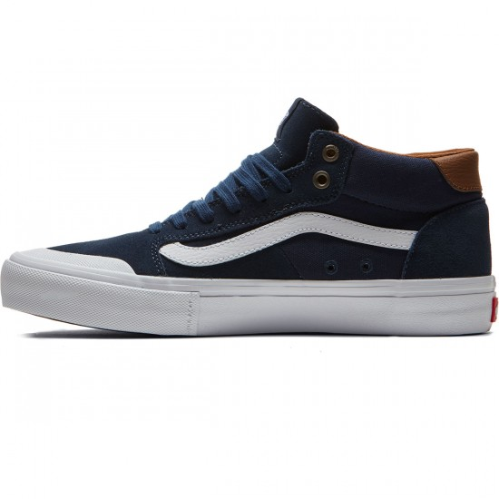 Vans Style 112 Mid Pro Shoes - Navy/White - 8.0