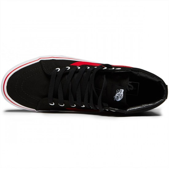 Vans SK8-Hi Reissue Shoes - Black/Racing Red - 8.0