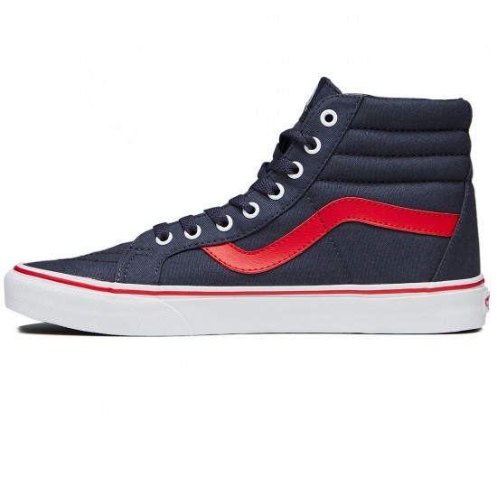 Vans SK8-Hi Reissue Shoes - Parisian Night/Racing Red - 8.0