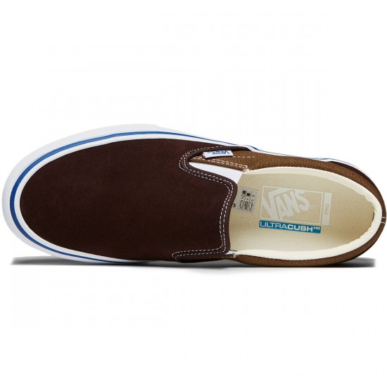 Vans Slip-On Pro Shoes - Coffee Bean/Teak - 8.0