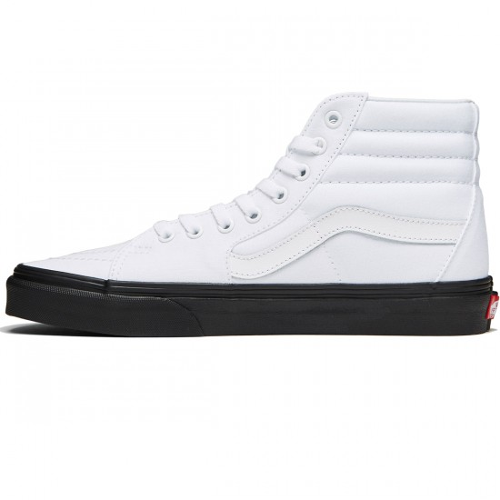 Vans Sk8-Hi Shoes - Black Outsole/True White - 8.0