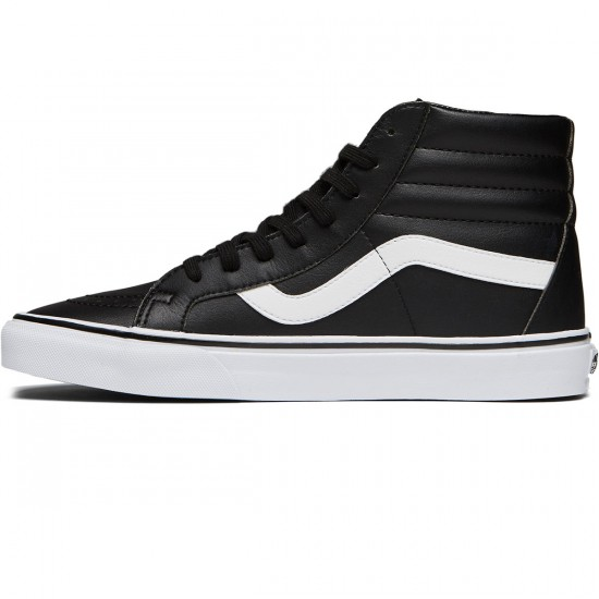 Vans SK8-Hi Reissue Shoes - Classic Tumble Black/True White - 8.0